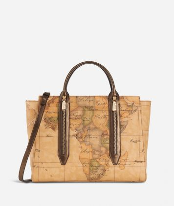 Autumn Geo Medium Handbag Bronze