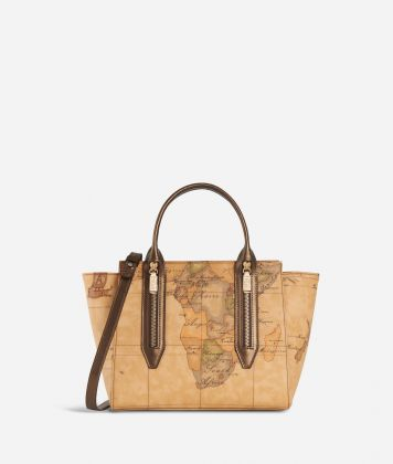 Autumn Geo Small Handbag Bronze