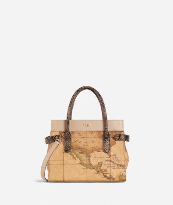 Fantasy Geo Small Handbag Cream