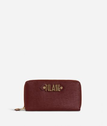 Winter Smile Double ziparound Wallet Cabernet