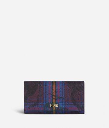 Geo Tartan Wallet Multicolor