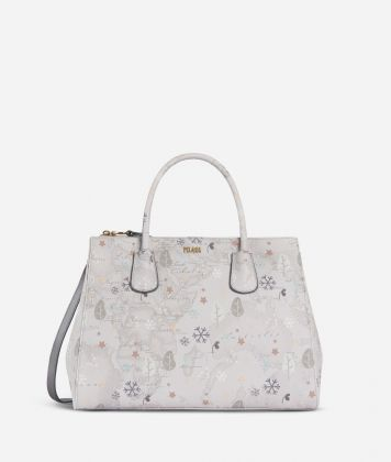 White Snow Handbag White