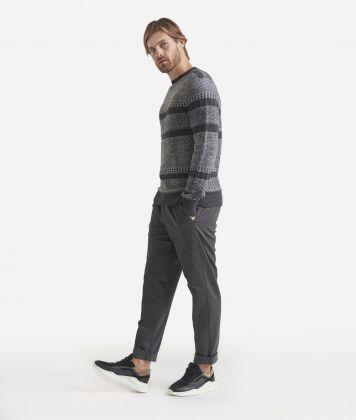 Alpace blend crewneck sweater Grey