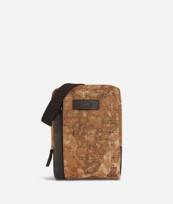 Geo Classic print canvass crossbody bag