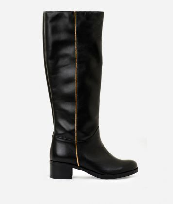 Leather riding boots Black