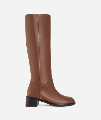 Leather riding boots Light Brown