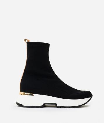 Lycra running boots Black