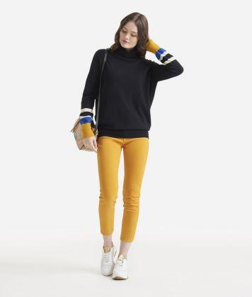 Turtleneck sweater Yellow