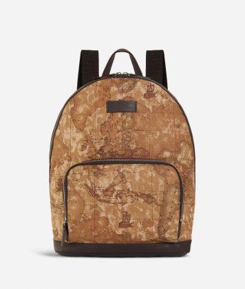 Geo Classic print fabric big backpack