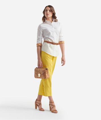 Basic shirt with 3/4 sleeves White