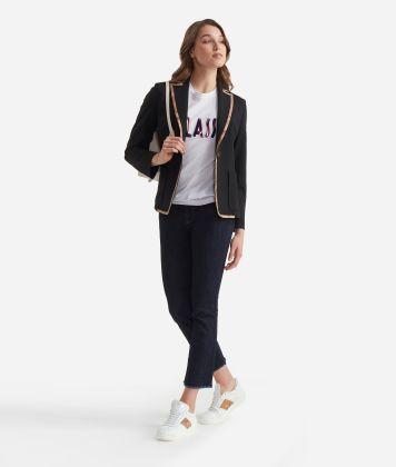 Jersey unlined blazer Black