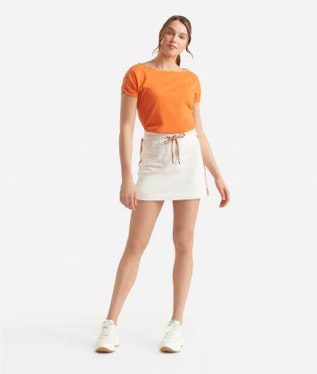 Donnavventura Kimono t-shirt in jersey cotton Orange