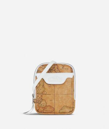 Donnavventura Mini crossbody bag with Geo Classic print White