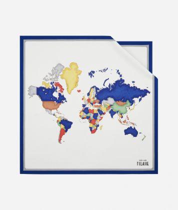 Foulard Geo Pop 70 x 70 Blu