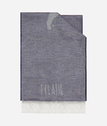 Geo Pieno print foulard 20 x 230 Blue