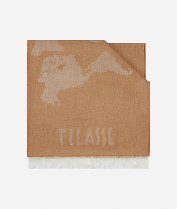 Geo Pieno print scarf 40 x 180 Beige