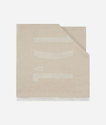Logo 1A Classe print scarf 40 x 180 Beige