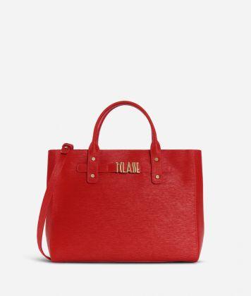Voyage Smile Medium Handbag Red