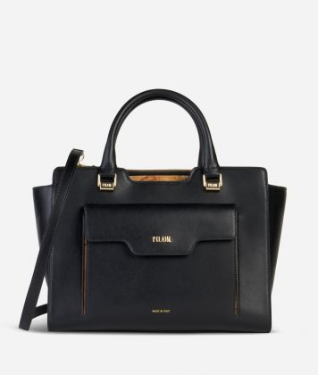 Marrakech Handbag in smooth leather Black