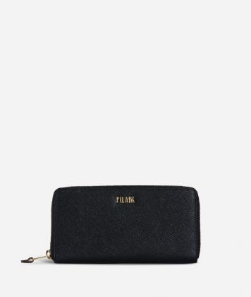 Medina City Zip-around Wallet Black
