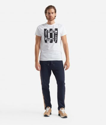 T-shirt a manica corta con stampa Logo Bianca