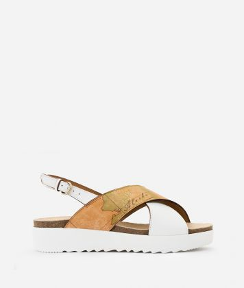 Sandali in pelle Bianchi