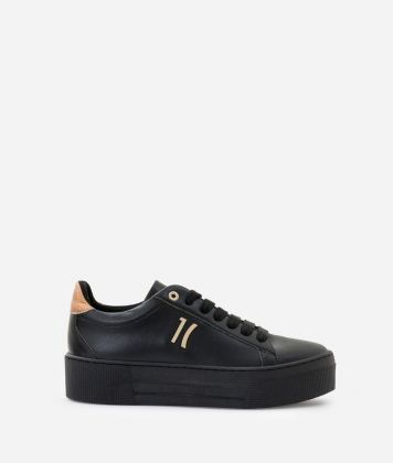 Sneaker in eco-leather Black