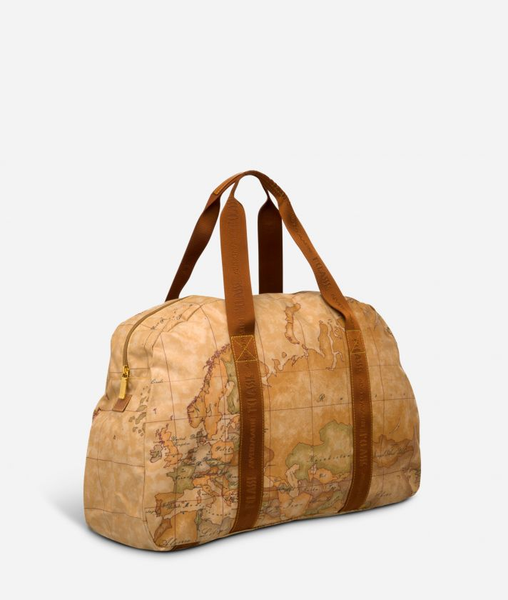 Geo Soft Bag with fabric handles