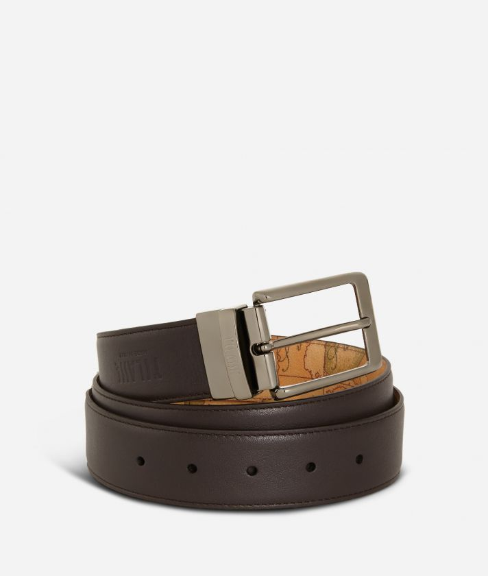 Men's belt leather brown