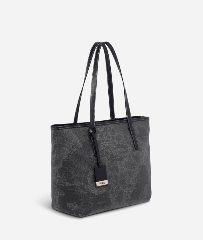 Geo Black Medium shopping bag