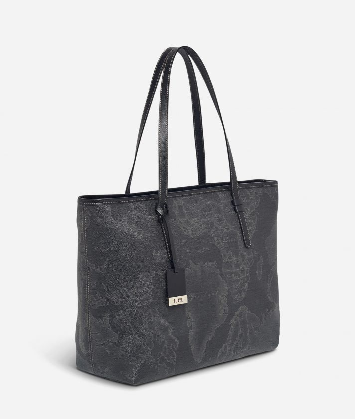 Geo Black Large Geo Dark shopping bag