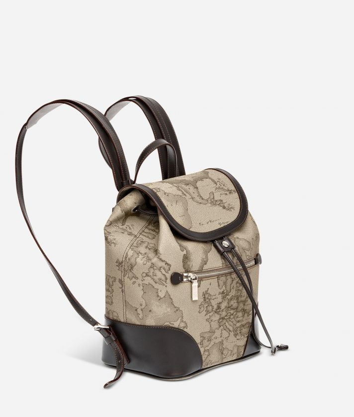Geo Tortora Backpack with leather corners