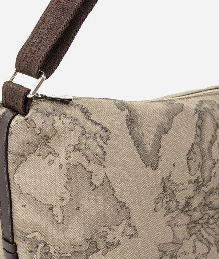 Geo Tortora Large crossbody bag