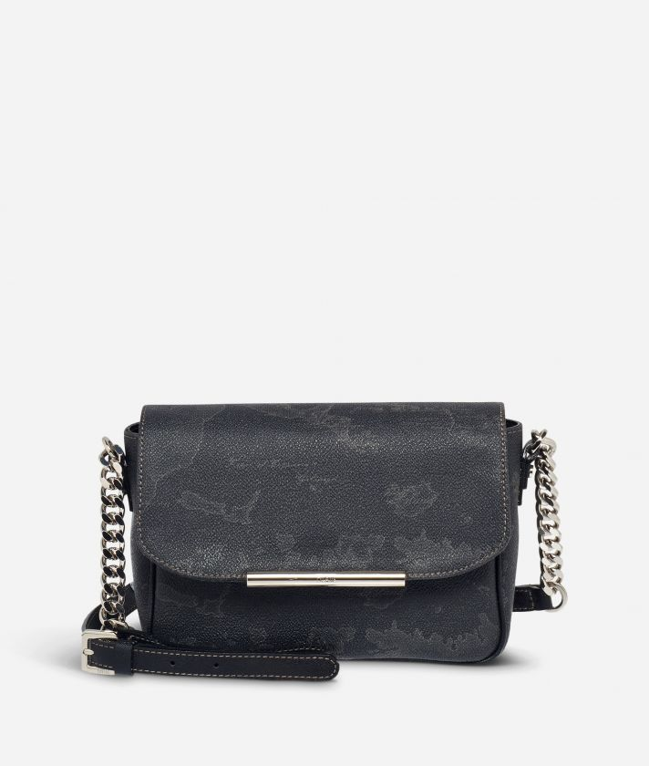 Geo Black Mini crossbody bag