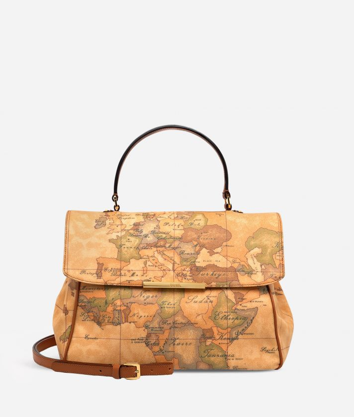 Geo Classic Medium bag with flap closure