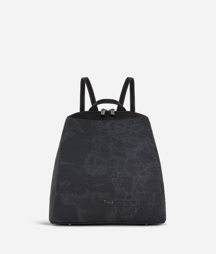 Geo Black Ziparound Backpack