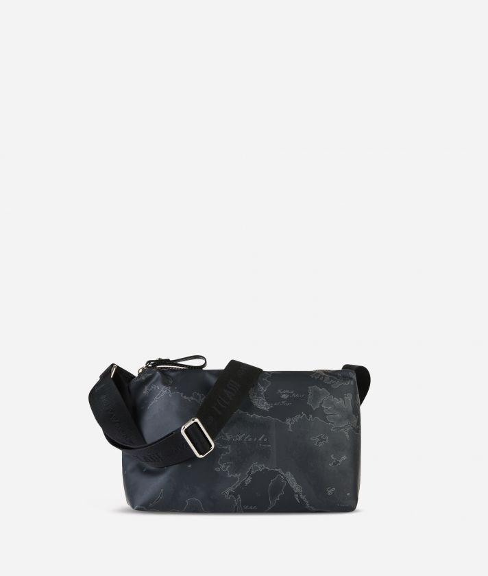 Geo Soft Black Small crossbody bag