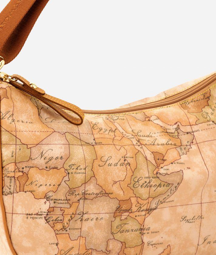 Geo Soft Small half-moon handbag