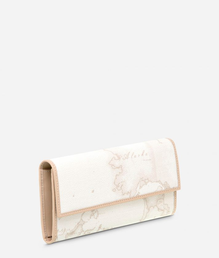 Geo White Medium wallet