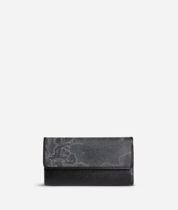 Geo Black Large wallet with pocket