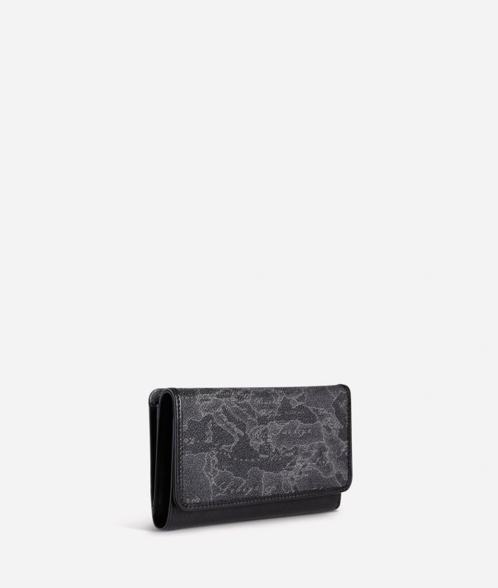 Geo Black Small wallet with pocket