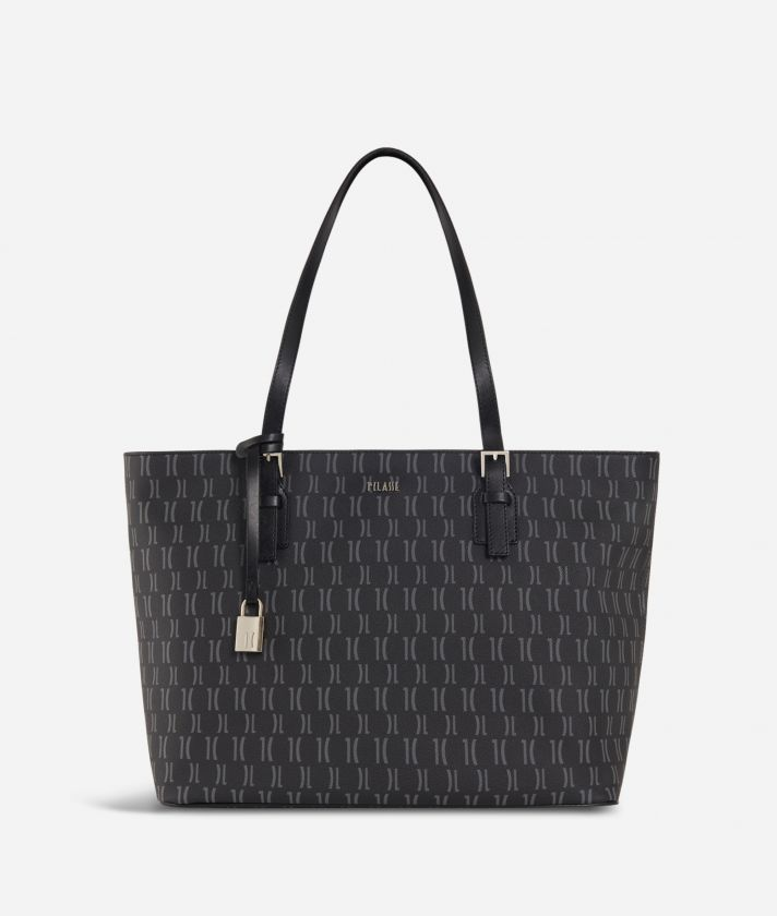 Monogram Big Shopping Bag Black