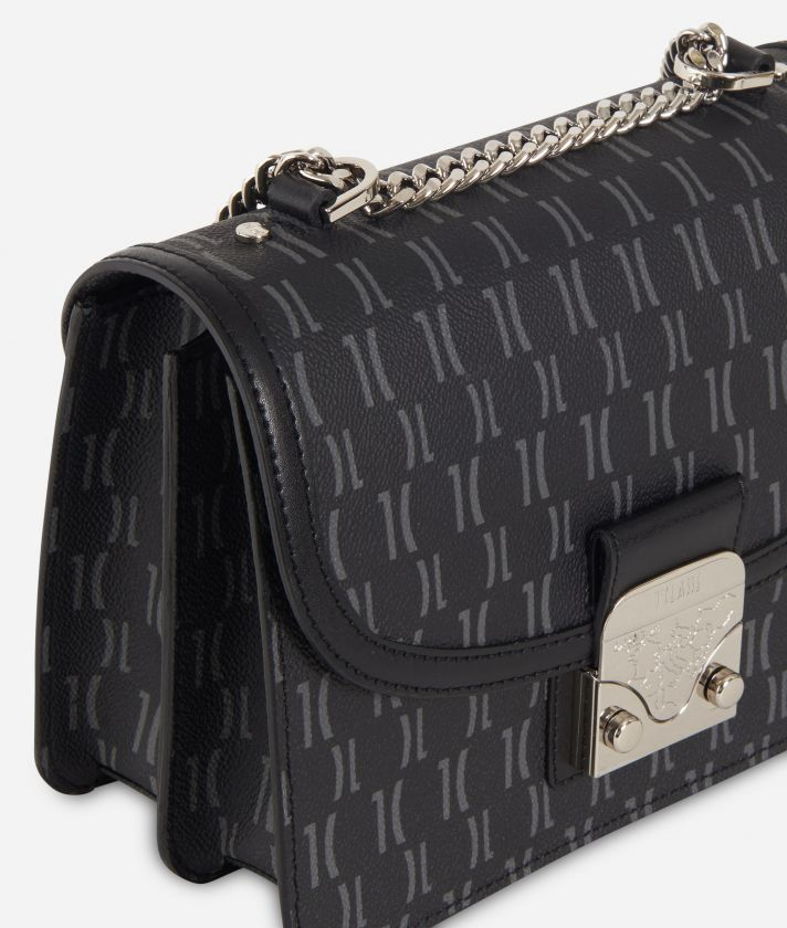 Monogram Crossbody Bag Black