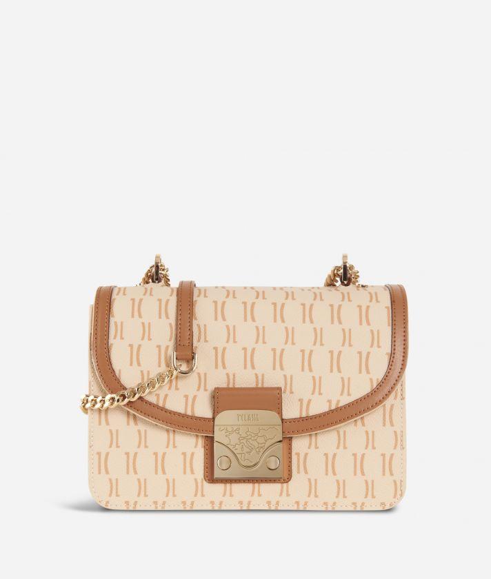 Monogram Crossbody Bag Cream