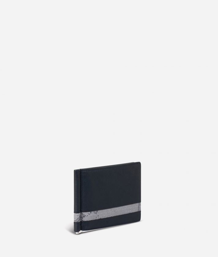 Billfold wallet Geo Dark fabric trims