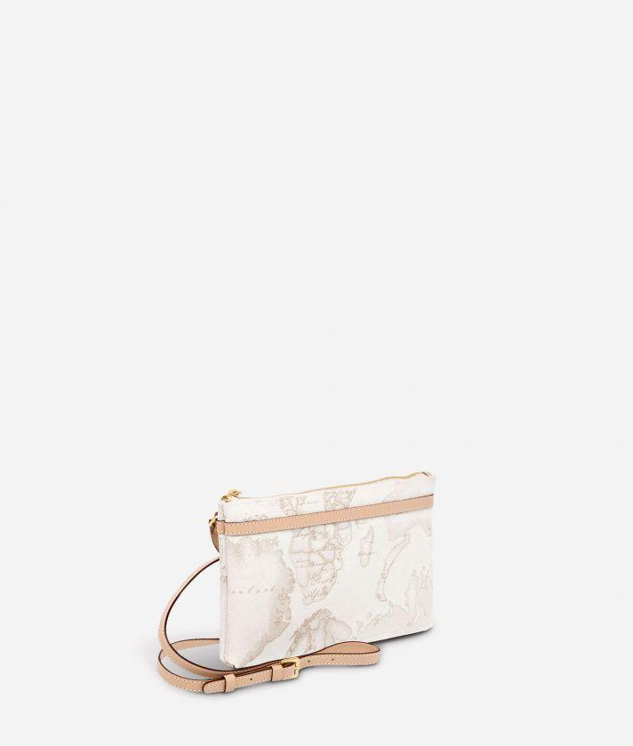 Geo White Medium crossbody bag