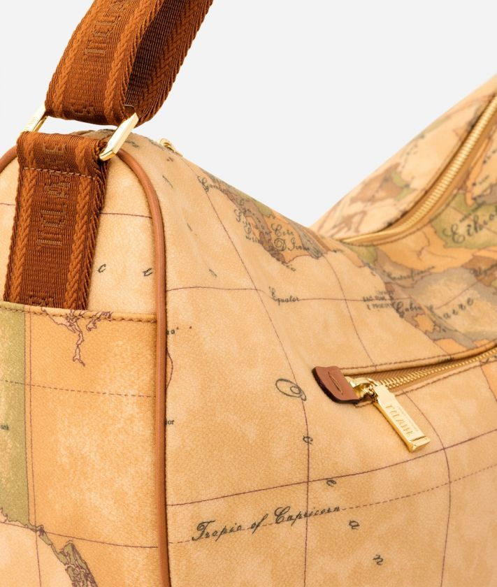 Geo Classic Medium half-moon handbag