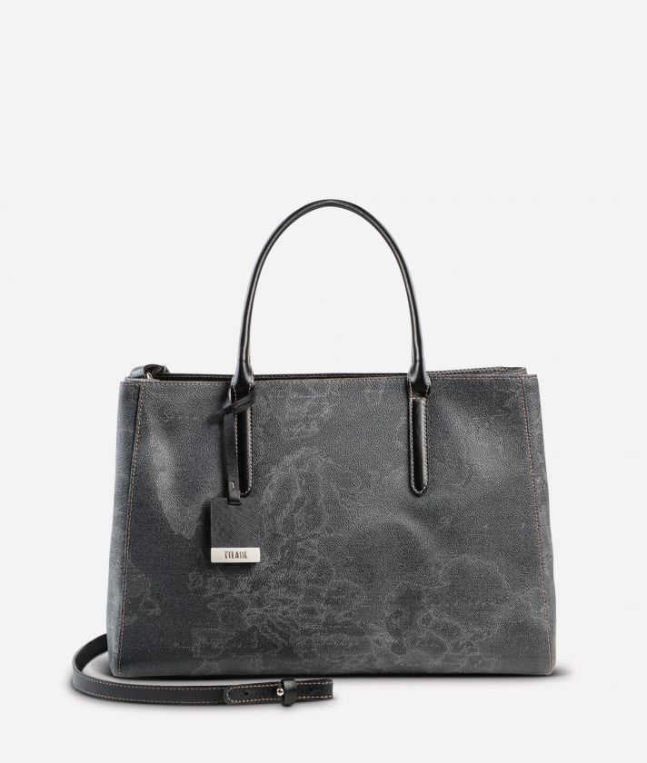 Geo Black Medium handbag