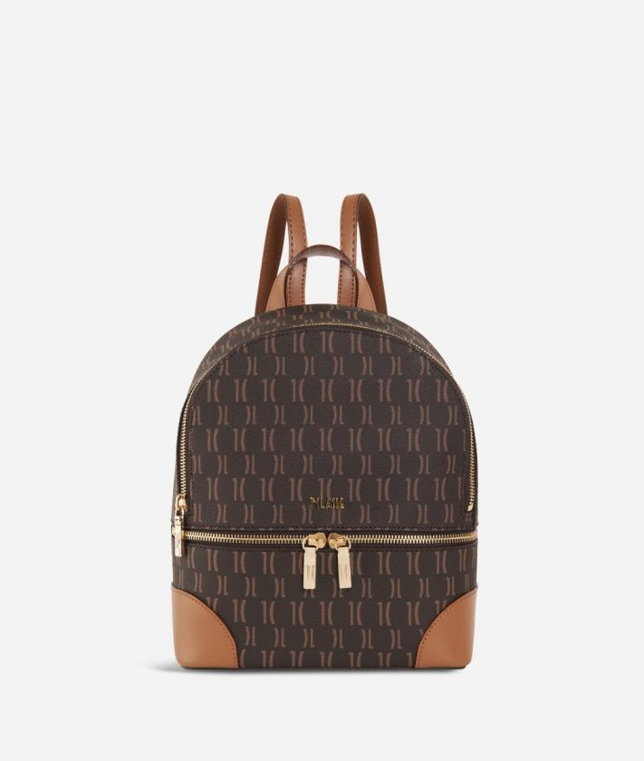 Monogram Mini Backpack Dark Buff