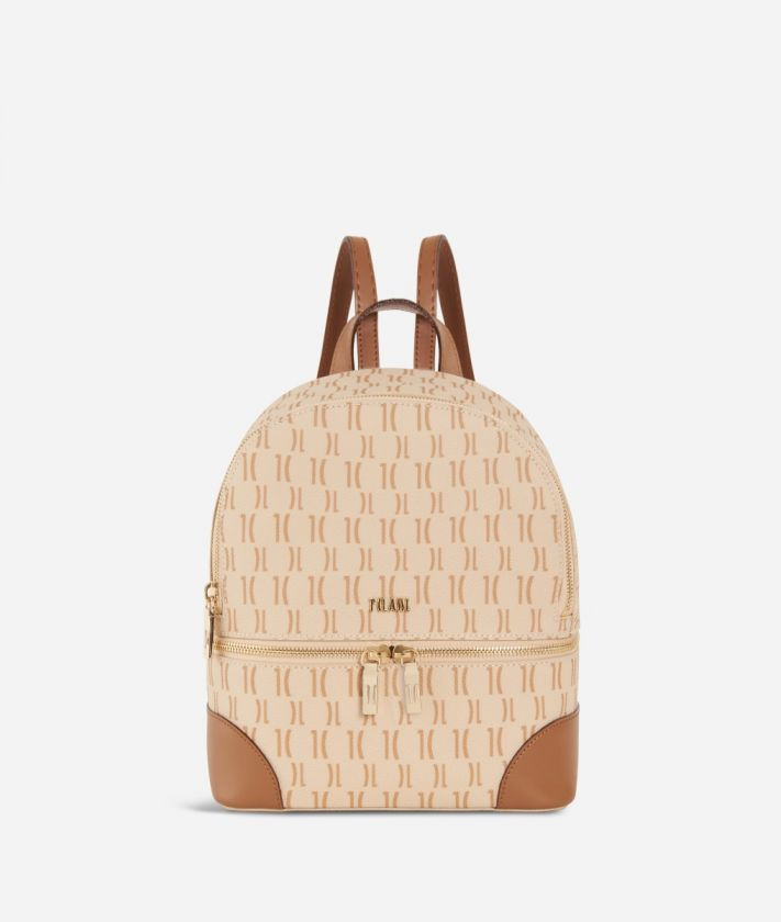 Monogram Mini Backpack Cream